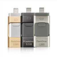 Usb flash drive для iphone 5s/5/5s/6/6s + USB 3.0 + micro USB Android