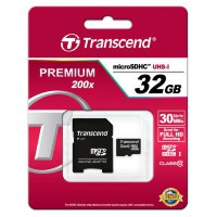Transcend  microSDHC Class 10 UHS-I Card 32GB + SD adapter